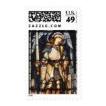 Saint Michael by Burne Jones, Vintage Archangel Stamp