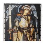 Saint Michael by Burne Jones, Vintage Archangel Small Square Tile