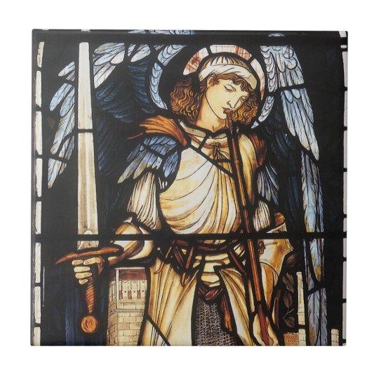 Saint Michael by Burne Jones, Vintage Archangel Tile