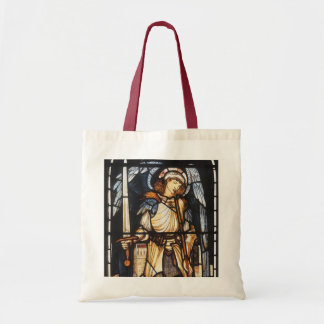 Saint Michael by Burne Jones, Vintage Archangel Tote Bag
