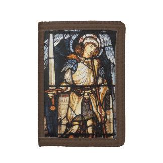 Saint Michael by Burne Jones, Vintage Archangel Tri-fold Wallet