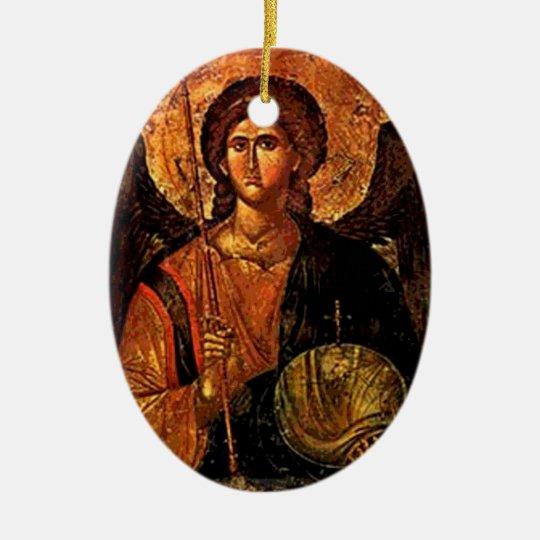 Saint Michael Ceramic Ornament