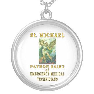 SAINT MICHAEL EMT ROUND PENDANT NECKLACE