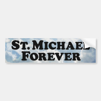 Saint Michael Forever - Basic Car Bumper Sticker
