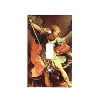 Saint Michael light switch cover