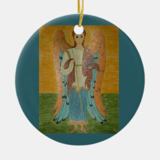 Saint Michael Double-Sided Ceramic Round Christmas Ornament