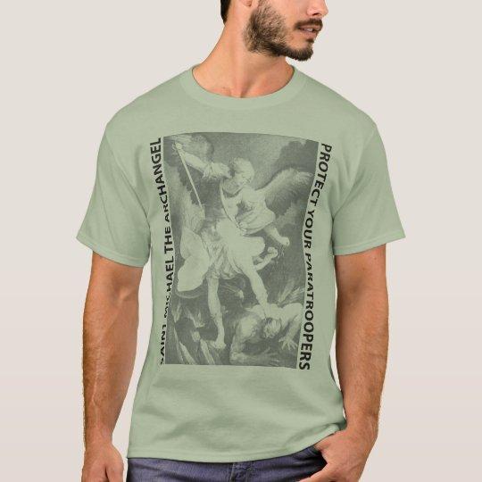 Saint Michael Paratrooper Black T-Shirt