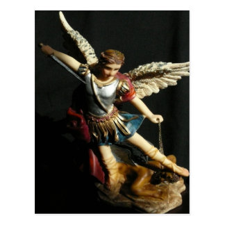 Saint Michael & Prayer Angel Postcard