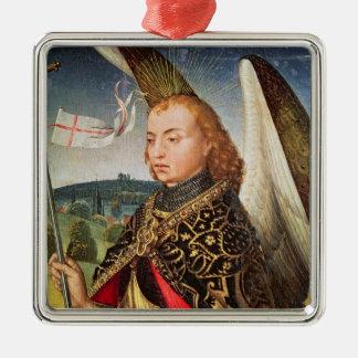 Saint Michael the Archangel, 1460-66 Square Metal Christmas Ornament