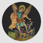 Saint Michael The Archangel Classic Round Sticker