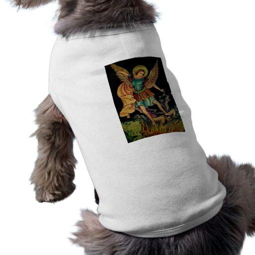 Saint Michael The Archangel Dog Tee Shirt