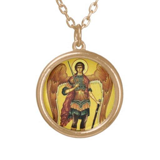 michael the archangel icon pendant zazzle