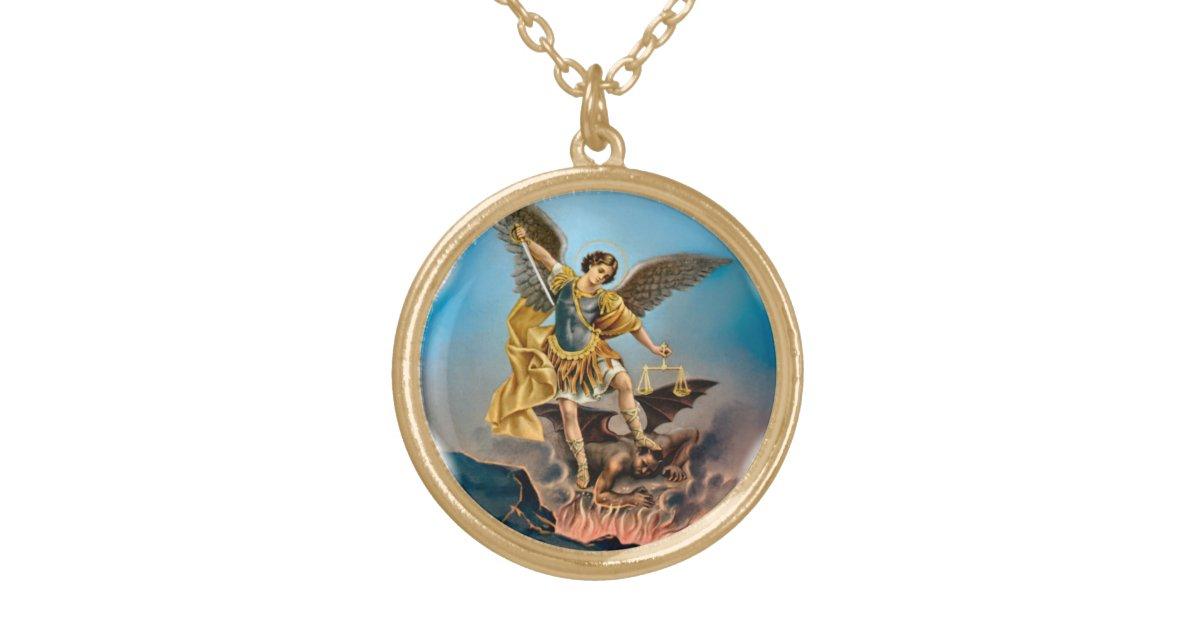 michael the archangel necklace zazzle