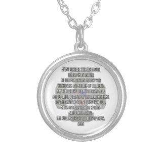 Saint Michael the Archangel Round Pendant Necklace