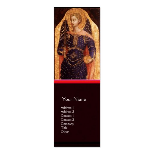 SAINT MICHAEL THE ARCHANGEL WITH DRAGON BUSINESS CARD