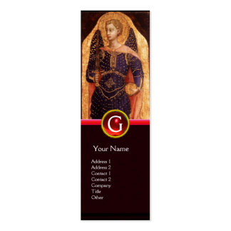 SAINT MICHAEL THE ARCHANGEL WITH DRAGON MONOGRAM Double-Sided MINI BUSINESS CARDS (Pack OF 20)