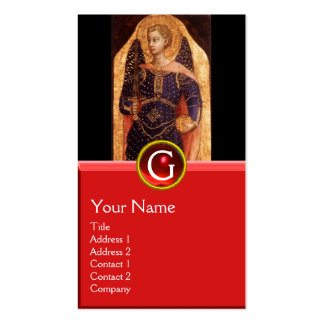 SAINT MICHAEL THE ARCHANGEL WITH DRAGON MONOGRAM Double-Sided STANDARD BUSINESS CARDS (Pack OF 100)