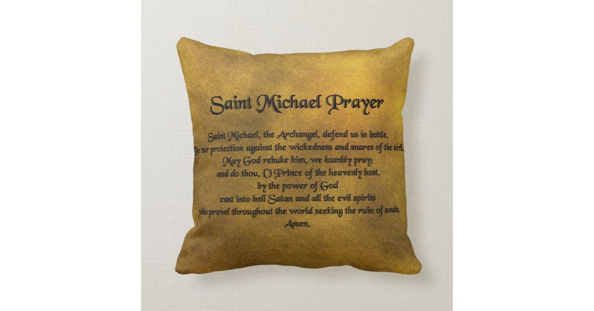 Throw Pillows Matching Curtains : Saint Michael Throw Pillow Zazzle