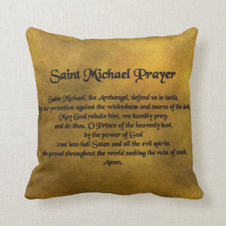 Saint Michael Throw Pillow