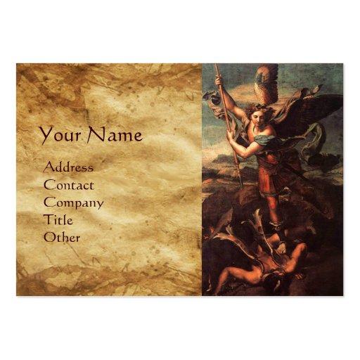 SAINT MICHAEL VANGUISHING SATAN BUSINESS CARD TEMPLATES