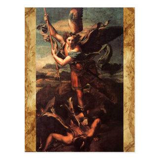 SAINT MICHAEL VANGUISHING SATAN POSTCARD