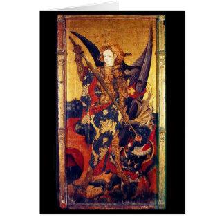 Saint Michael Vanguishing the Devil Greeting Card