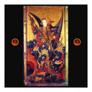 Saint Michael Vanguishing the Devil, red ruby Card