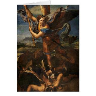 Saint Michael Vanquishing Satan Card