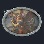 "Saint Michael Vanquishing Satan Oval Belt Buckle<br><div class=""desc"">Saint Michael Vanquishing Satan by Raphael,  1518.</div>"
