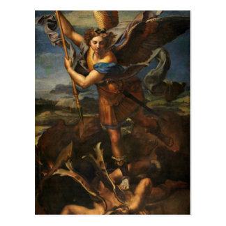Saint Michael Vanquishing Satan Postcard
