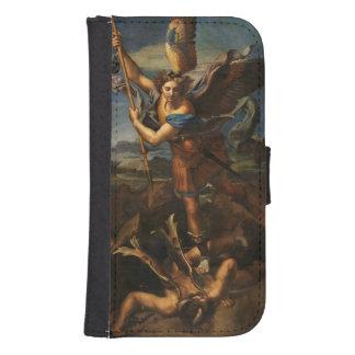 Saint Michael Vanquishing Satan Wallet Phone Case For Samsung Galaxy S4