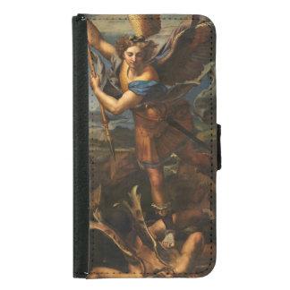 Saint Michael Vanquishing Satan Wallet Phone Case For Samsung Galaxy S5