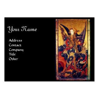Saint Michael Vanquishing the Devil Large Business Cards (Pack Of 100)