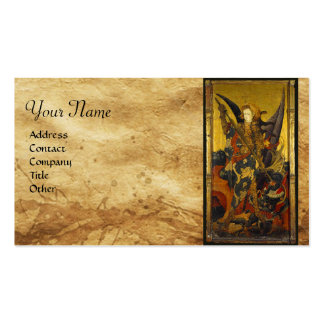 Saint Michael Vanquishing the Devil Double-Sided Standard Business Cards (Pack Of 100)