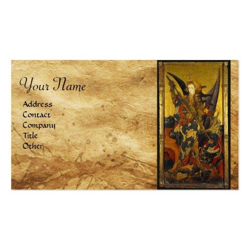 Saint Michael Vanquishing the Devil Business Card