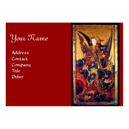 Saint Michael Vanquishing the Devil Business Card Templates