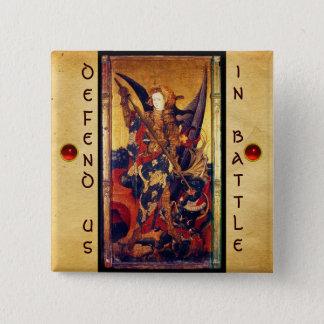 Saint Michael Vanquishing the Devil Button