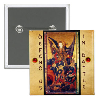 Saint Michael Vanquishing the Devil Pinback Buttons