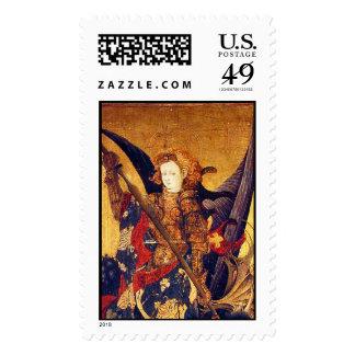 Saint Michael Vanquishing the Devil  ,detail Postage