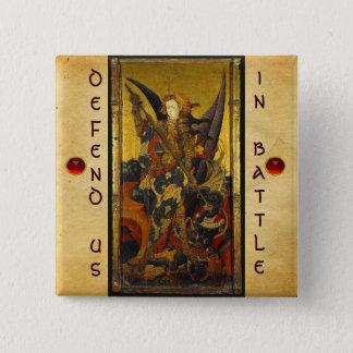 Saint Michael Vanquishing the Devil Pinback Button