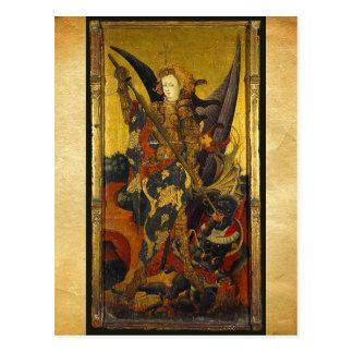 Saint Michael Vanquishing the Devil Post Card