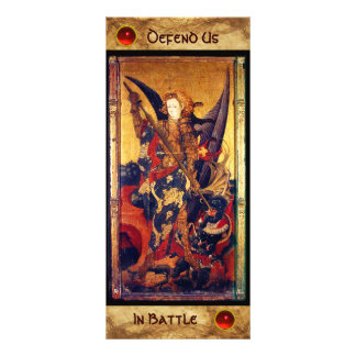 Saint Michael Vanquishing the Devil  Prayer Card Full Color Rack Card
