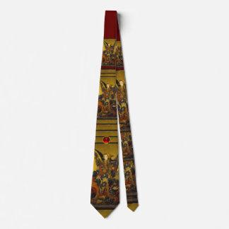 Saint Michael Vanquishing the Devil , ruby Neck Tie