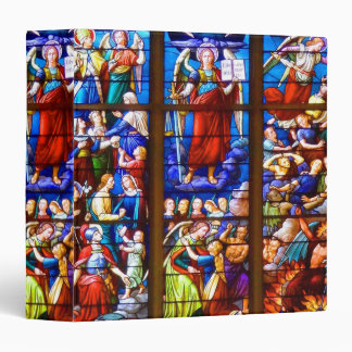 Saint Michaels Church Stained Glass 3 Ring Binder