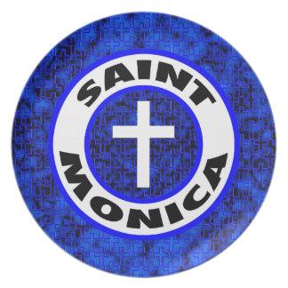 Saint Monica Melamine Plate