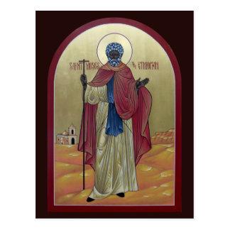 Saint Moses the Ethiopian Prayer Card Postcard
