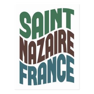 Saint Nazaire France Retro Wave Postcard