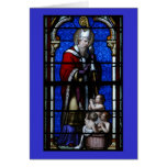 Saint Nicholas Blessings Stained Glass Card