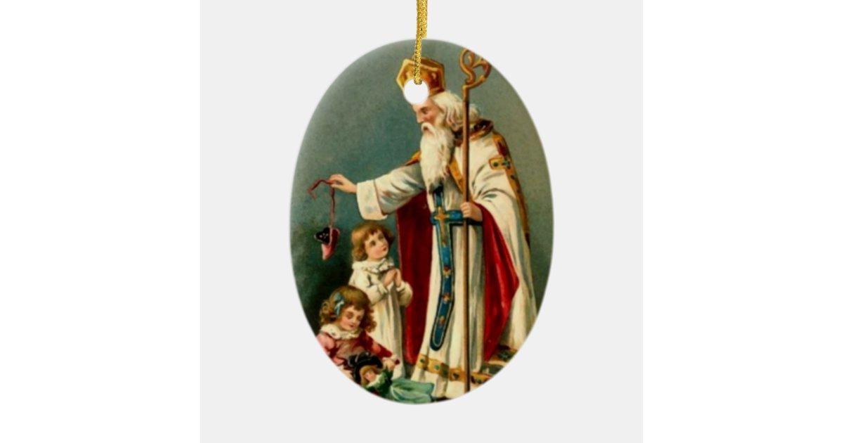 Saint Nicholas Christmas Tree Ornament | Zazzle