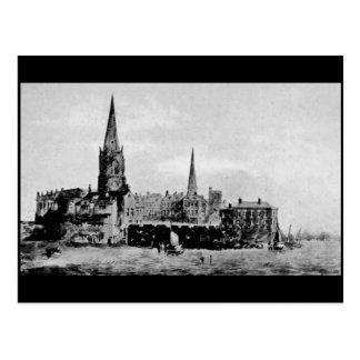 Saint Nicholas Church, Liverpool, 1759 Postcard